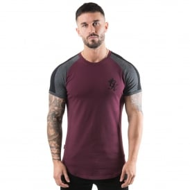 Gym King Long Line Half-Sleeve Retro T-Shirt