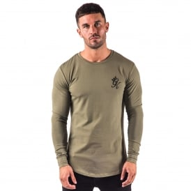 Gym King Long Sleeve Fitted Top - Khaki