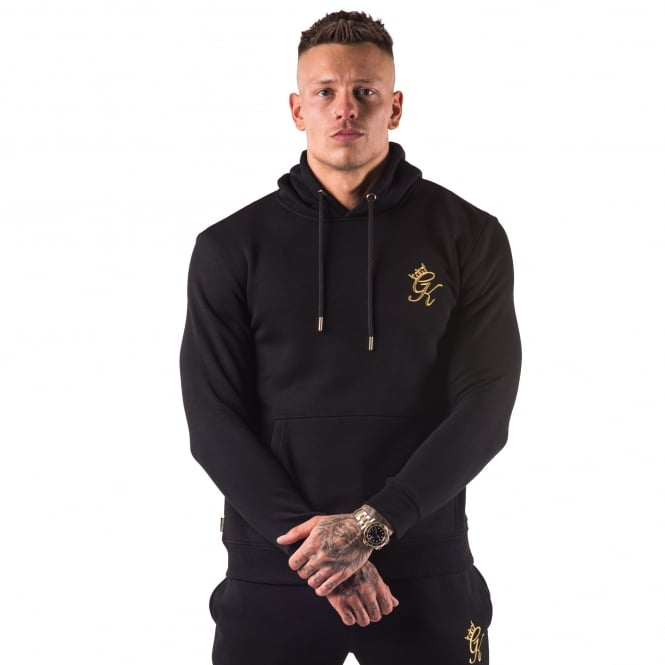 Gym King Overhead Hood Sweat Top - Black/Gold