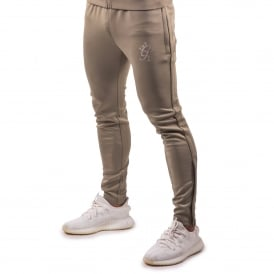 Gym King Poly Nylon Tapered Track Jogger - Light Khaki