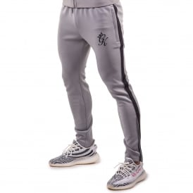 Gym King Poly Nylon Tapered Track Jogger - Sleet Grey