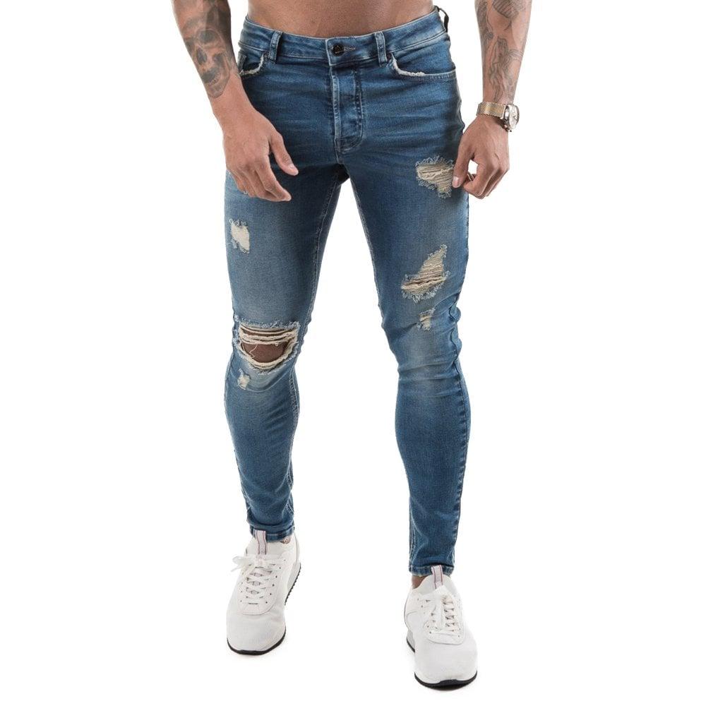 0b8e1fc6ae9d Buy Gym King Jeans | CBMenswear | Gym King Rip Repair Jeans