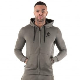 Gym King Sweat Track Top Hood - Castor Grey