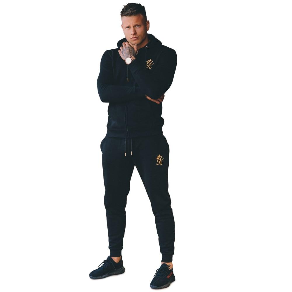 Gym King Tracksuit Set - Black Gold 03d20d385