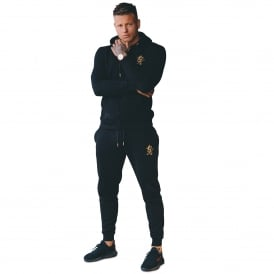 Gym King Tracksuit Set - Black/Gold