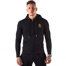 Gym King Zip Track Hood - Black/Gold