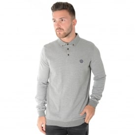 Henri Lloyd MI000003 Mullan Long Sleeve Regular Polo Top - Grey
