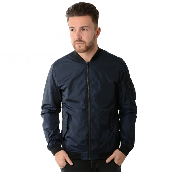 buy jack jones jackets cbmenswear jack jones cojustin navy jacket. Black Bedroom Furniture Sets. Home Design Ideas