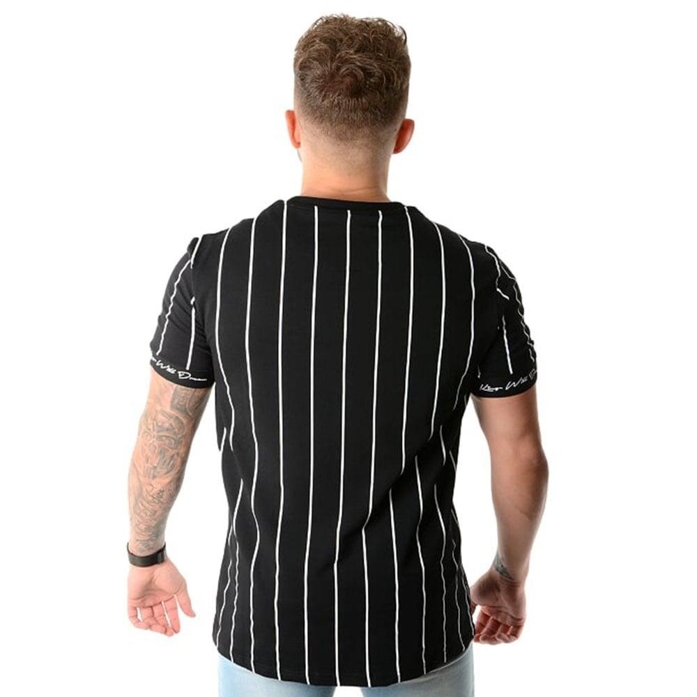 68a019740   KWD Clifton Pinstripe Half Sleeve T-Shirt