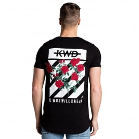 Kings Will Dream | KWD Pyne Rose 191 Half-Sleeve T-Shirt - Black