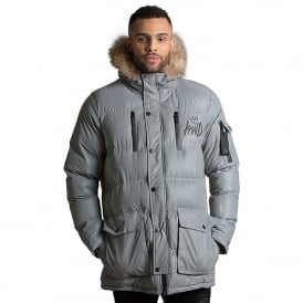 Kings Will Dream | KWD Roxley Reflective Puffer Jacket - Silver