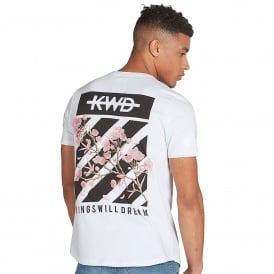 Kings Will Dream | KWD Staten Chevron / Floral Half Sleeve T-Shirt - White