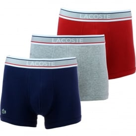 Lacoste 156048 Boxer Underwear 3-Pack Multicoloured Briefs