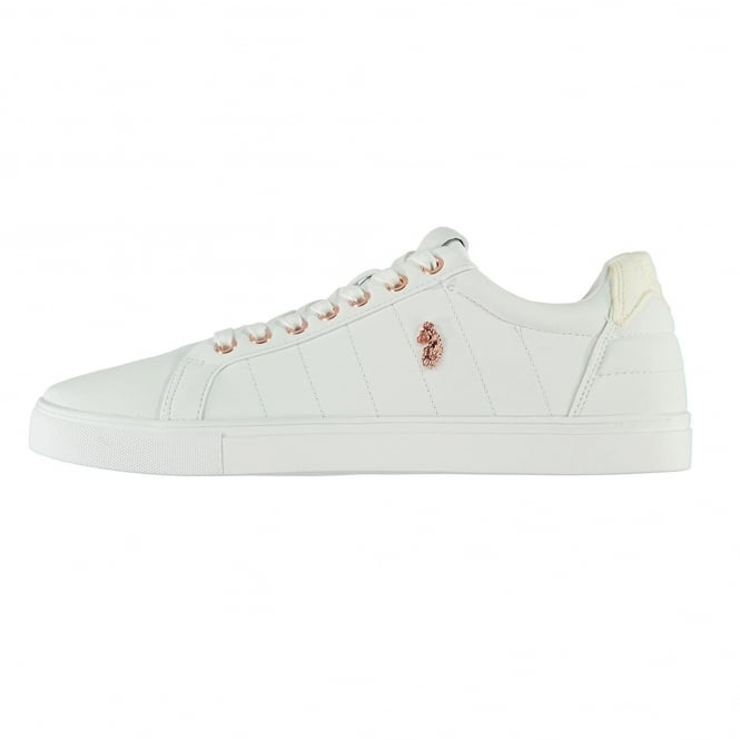 Luke | Haskell Padded Leather Trainer - White