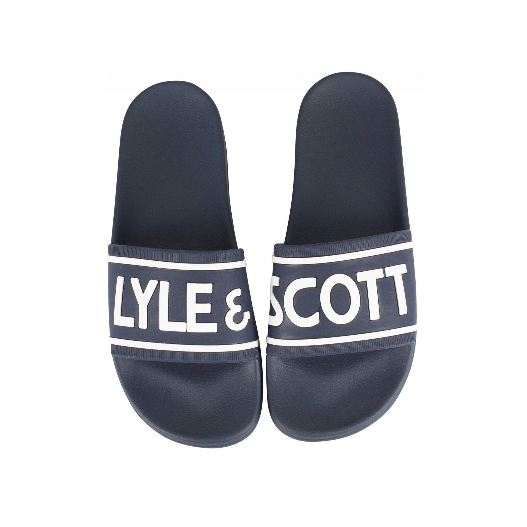 Lyle /& Scott FW814 Thomas Flip Flops Black