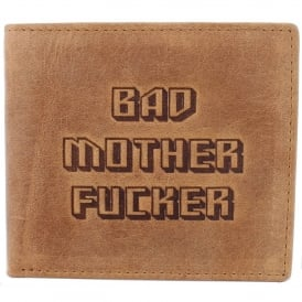 Mustard 'Bad Mother' Bifold & Coin Wallet - Brown