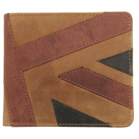 Mustard 'Union Jack Flag' Bifold & Coin Wallet - Brown