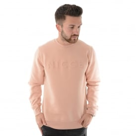Nicce London | Embossed Crew Neck Sweat Top