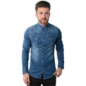 Police Bronco 4976 Denim Shirt