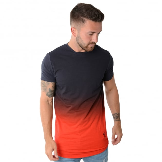 Religion MBGNF30D375 Navy/Red Fade T-Shirt