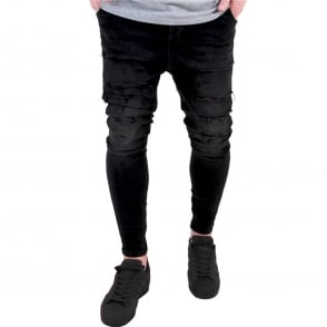 Sik Silk SS-10176 Washed Distressed Harem Jeans