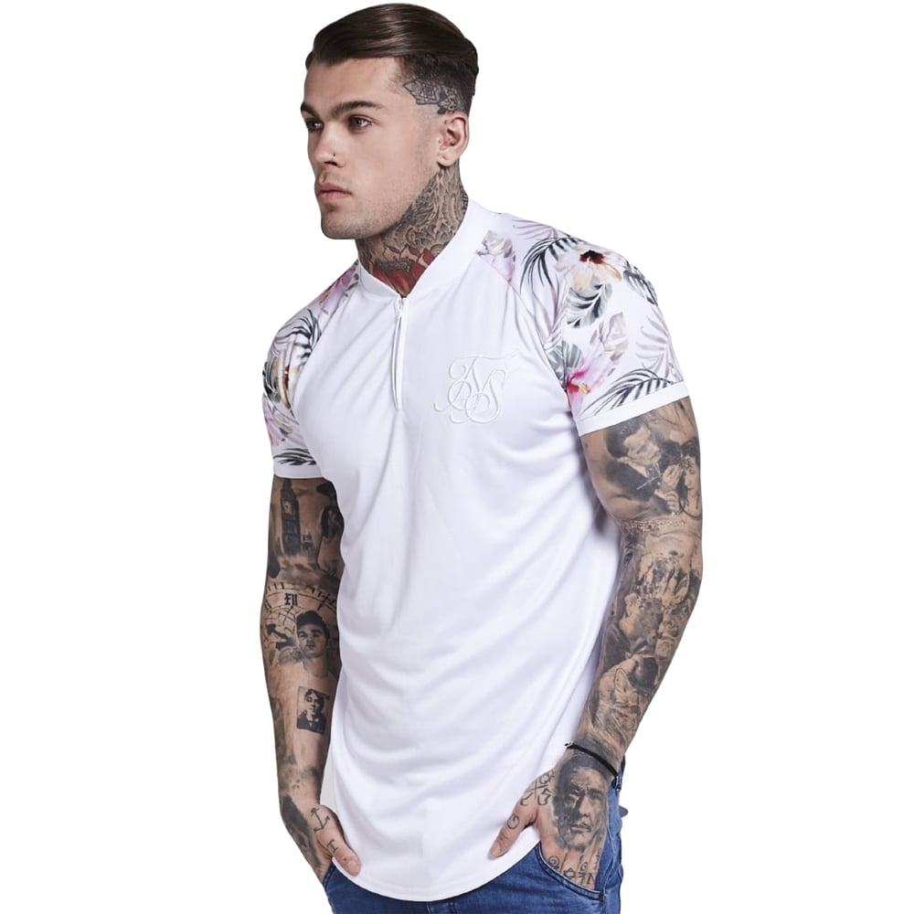 Buy Sik Silk T-Shirts | CBMenswear | Sik Silk Miami White T-Shirt