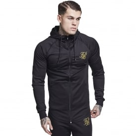 Sik Silk SS-12234 Zonal Zip Through Track Top - Black/Gold