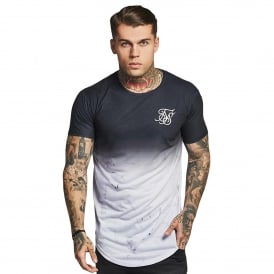 Sik Silk SS-12440 Marble Fade T-Shirt - Black