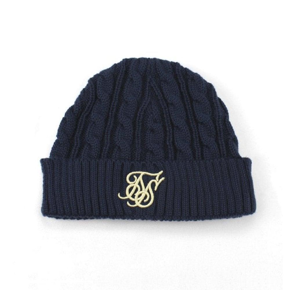 589d3647a43 Sik Silk SS-14538 Fisherman Beanie Hat - Navy