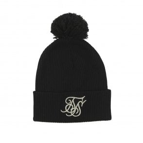 4590fb19014 Sik Silk SS-14542 Tonal Bobble Beanie Hat - Black