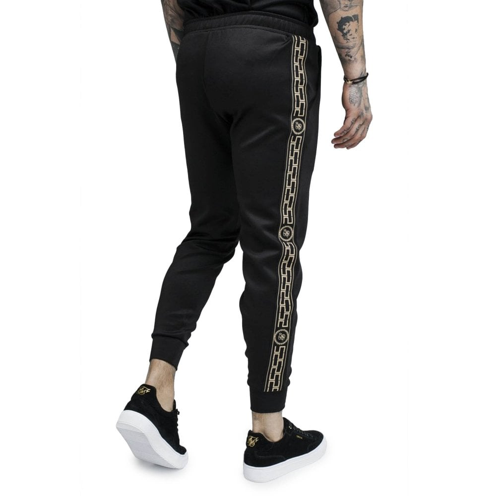 Sik Silk SS SS-13673 Cartel Tape Cropped Cuff Track Jogger - Black b3ee03d9e0a6