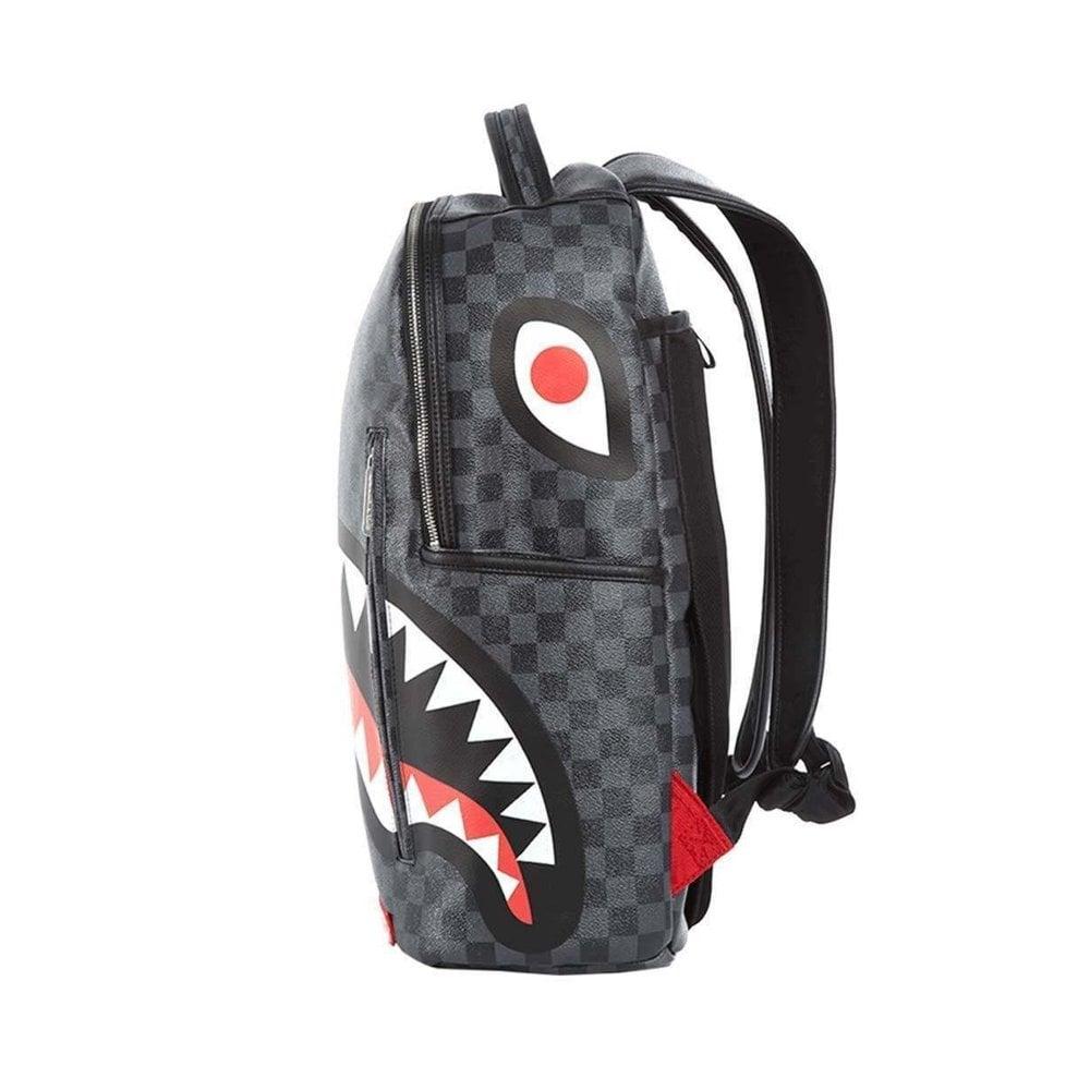 B2805NSZ Check Sharks In Paris Crossbody Bag Sprayground Grey