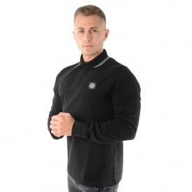 Stone Island | 2SS18 Long Sleeve Polo Top - Black
